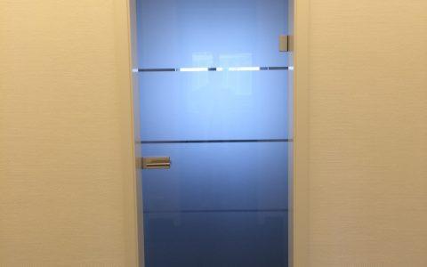 Folie Glasedge Tür