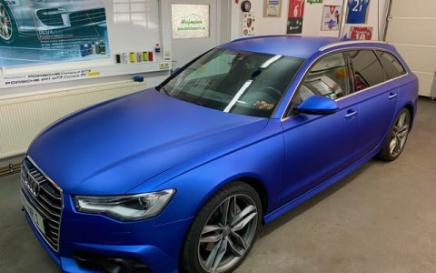 Folie A6 Avant Matt Blue Brillant Blue