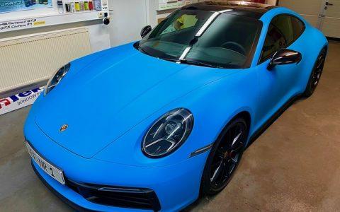 Folie Porsche 992 S mattblau